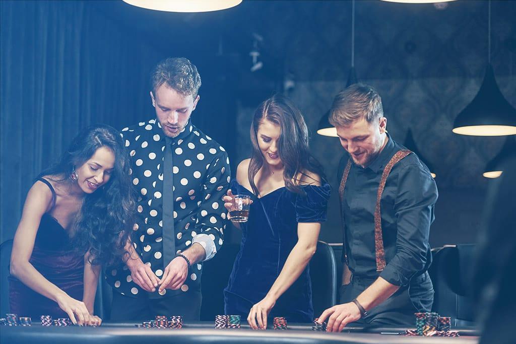 Friends gambling a ta casino